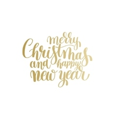 Golden merry christmas and happy new year vector