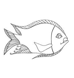 Hand drawn fresh fish vector image vector image