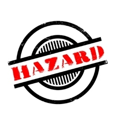 Hazard rubber stamp vector