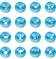 internet and computing icons vector image