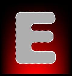 letter e sign design template element postage vector image
