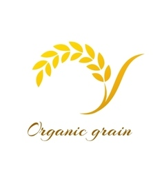Logotype template with wheat vector