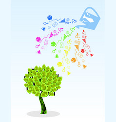 money tree and its components vector image