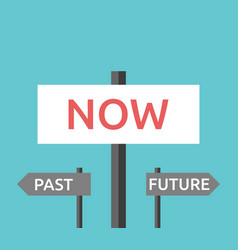 Now past future signs vector