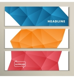 Set abstract bright pictures of red orange blue vector image vector image