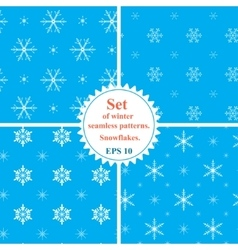 Set of winter seamless patterns with vector image