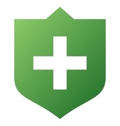 Shield gradient icon vector