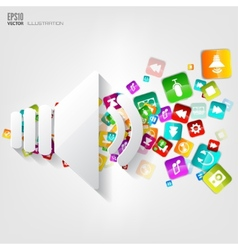 Sound icon application buttonsocial mediacloud vector