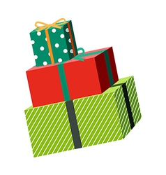 The gift boxes vector image