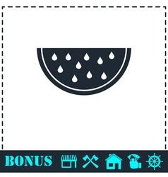 Watermelon icon flat vector image vector image