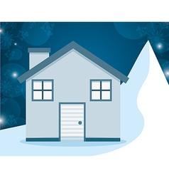 Winter homes design vector