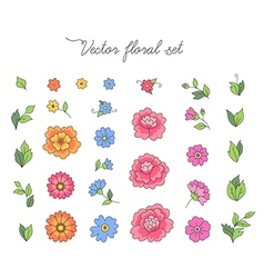 Floral design set vector