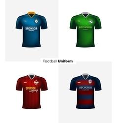 Realistic football uniforms Branding vector image