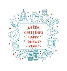Christmas frame for text vector image