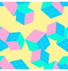 Geometric seamless pattern with cubes vector