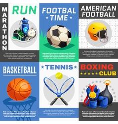 Modern sport posters set vector