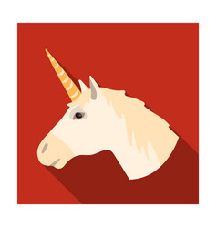 Unicorn icon in flat style isolated on white vector
