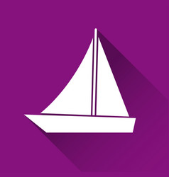 Simple ship icon boat symbol modern flat style vector