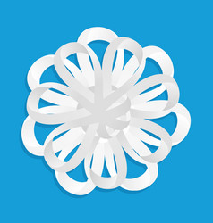 Snowflake ornament from paper tape vector