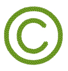 A four leaf clover of copyright sign vector