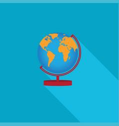 Flat earth globe icons vector
