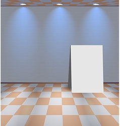 White room with ad board vector