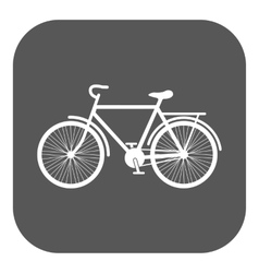 The bike icon bicycle symbol flat vector