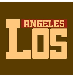 T shirt los angeles california beige vector