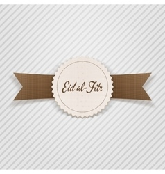 Eid al-fitr decorative paper emblem vector