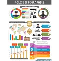 Flat police infografic vector