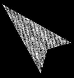 Arrowhead left-up fabric textured icon vector