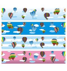 balloon border vector image vector image