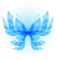 Blue butterfly abstract on white background vector