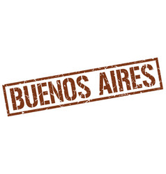 Buenos aires brown square stamp vector