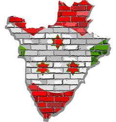 Burundi map on a brick wall vector