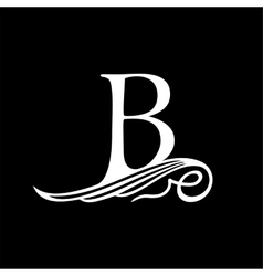 Capital Letter B for Monograms Emblems and Logos vector image