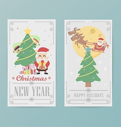christmas card design Layout template B vector image