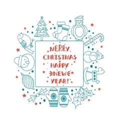 Christmas frame for text vector image