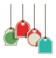 color prices tags with several shapes vector image vector image