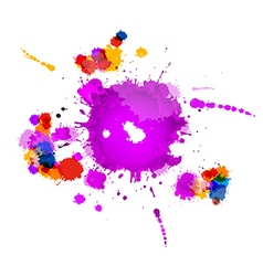 Colorful splashes abstract background vector