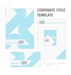 corporate identity template line vector image
