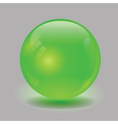 green glass sphere vector image