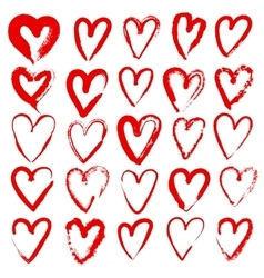 Hand drawn hearts vector
