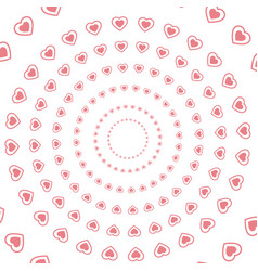 Heart abstract round seamless pattern decoration vector