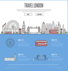 London city travel vacation guide vector