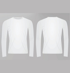 long sleeved t shirt vector image