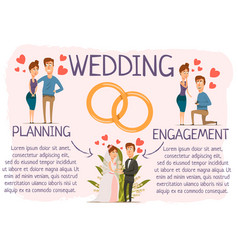 marriage stages infographic poster vector image vector image