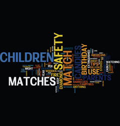 Match safety tips for parents and children text vector
