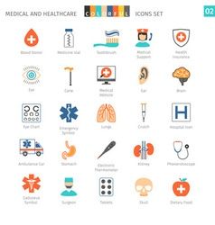 Medical Colorful Icons Set 02 vector image