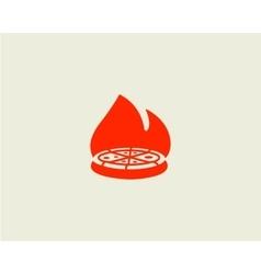 Pizza logo design pizzeria label badge vector